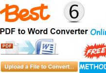Free PDF To Word Online Converter