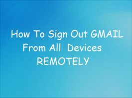 How To Sign Out Gmail Remotely From All Device