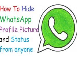 Hide WhatsApp Profile Picture and Status