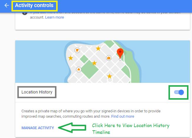 google map location history