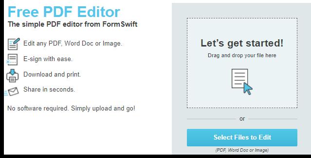 Formswift free online pdf editor