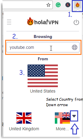 Watch Youtube Videos not available in your Country using Hola Extension