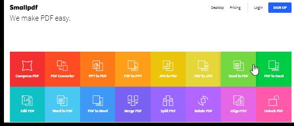 smallpdf free online pdf editor