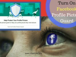 Turn on Facebook Profile Picture Guard Mobile and Desktop