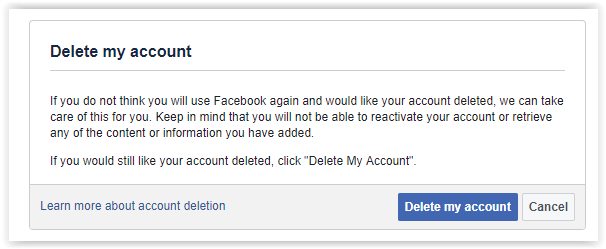 delete your facebook account permanently
