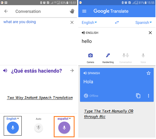 Use Google Translate offline on Android and iPhone