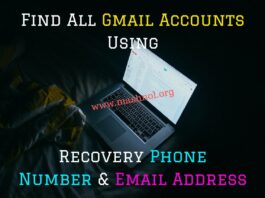 Find All Gmail Accounts Using Recovery Phone Number & Email Address