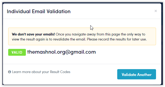 email validation service free