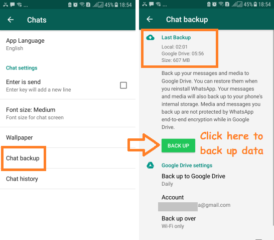 transfer whatsapp chat from android to iphone