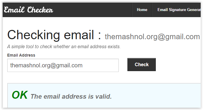 email checker - verify email address online free