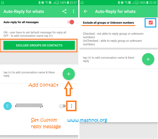 Auto reply for Whats to send auto reply to WhatsApp message