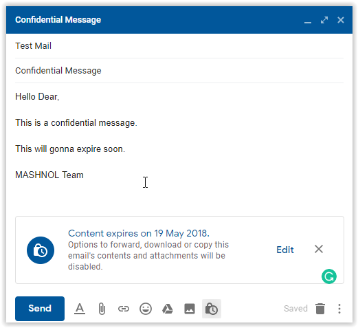 Send self destruct confidential email encrypted email