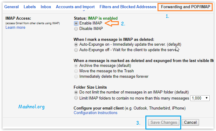Sync Gmail With Outlook Enable IMAP Gmail