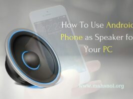 How To Use Android Phone as Speaker for your PC Mac