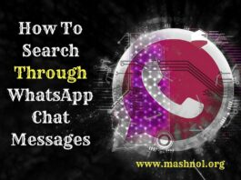 How To search through Whatsapp Chat Messages