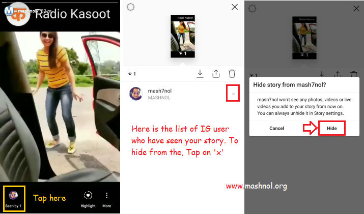Hide your story from your Instagram profile visitor