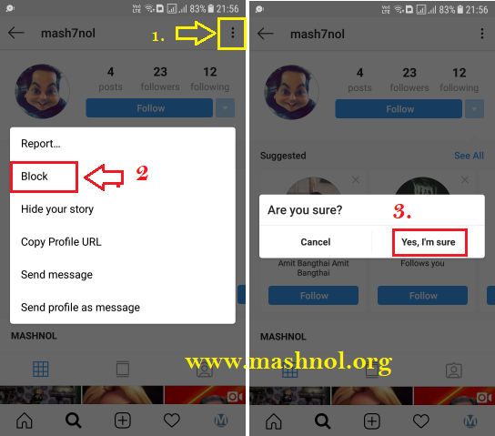 how to Block someone on Instagram iPhone Android