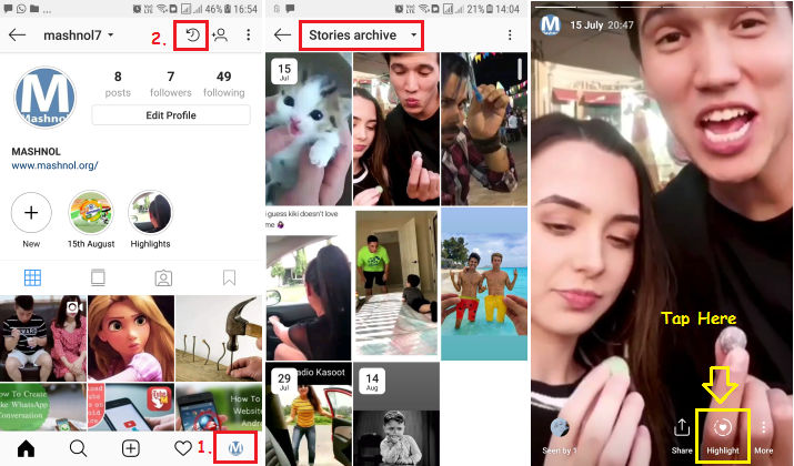 How to create or Add Story Highlight in Instagram from Archived Story