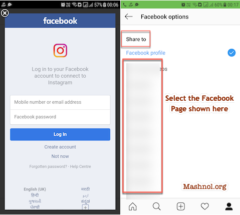 How to link Instagram to Facebook Page