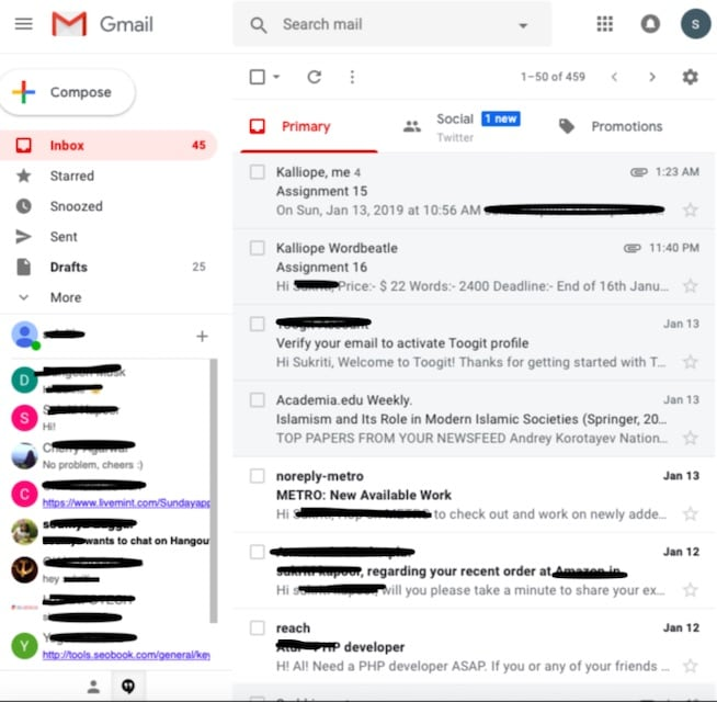 Confirm if Someone Blocked You on Gmail