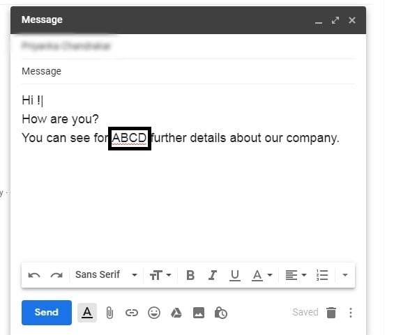 How to Hyperlink in Gmail