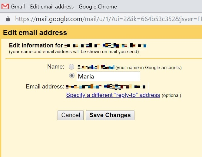 How to change name on Gmail