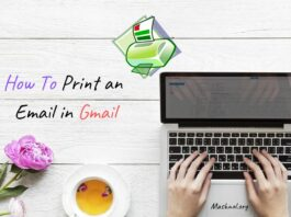 How To Print an Email in Gmail
