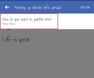 How to schedule a post on Facebook