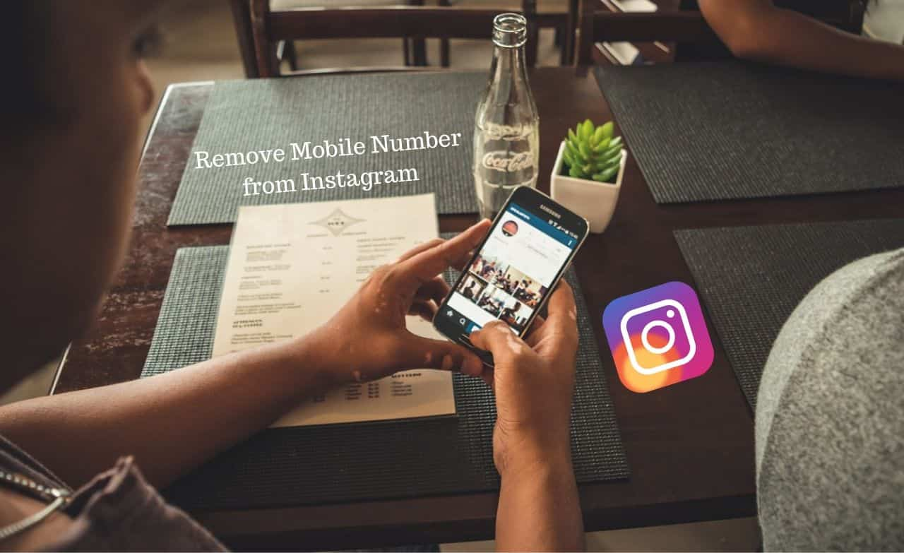 Remove Mobile Number from Instagram