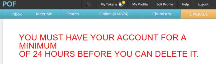 How to Delete POFAccount