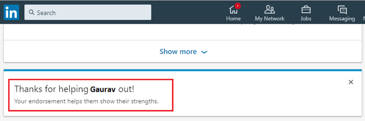 How to endorse someone on LinkedIn