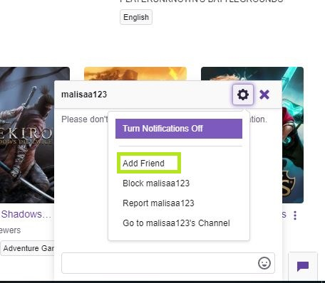 How to add Friends on twitch