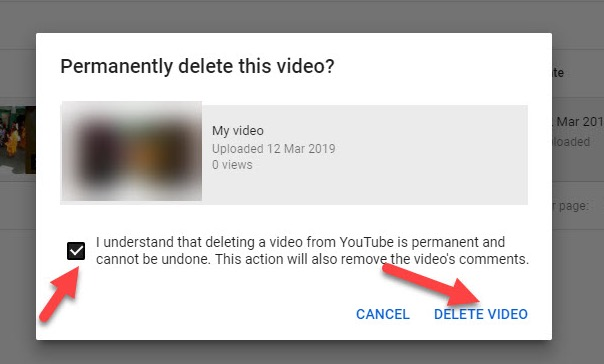How to delete a YouTube video.