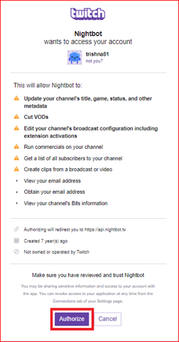 How to add nightbot to twitch