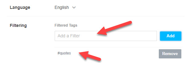 how to Block Tags on Tumblr