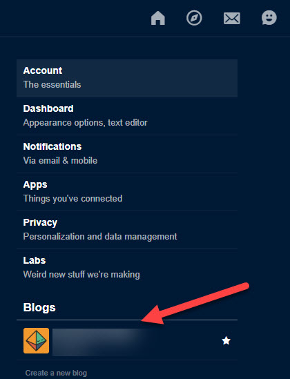 how to change primary blog & blog name on Tumblr