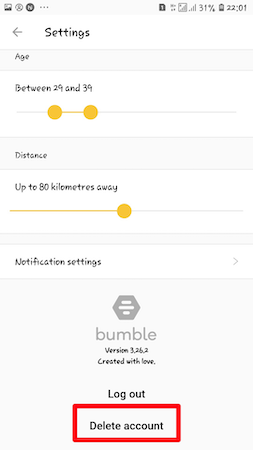 How to Delete Bumble Account