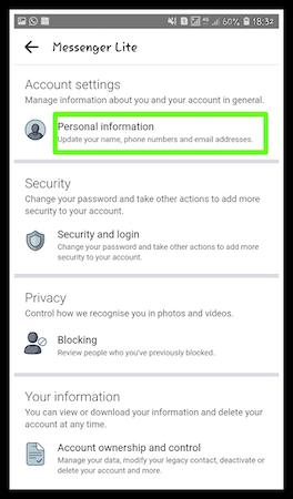 How to delete Messenger