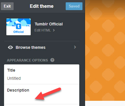 how to put a link in tumblr bio