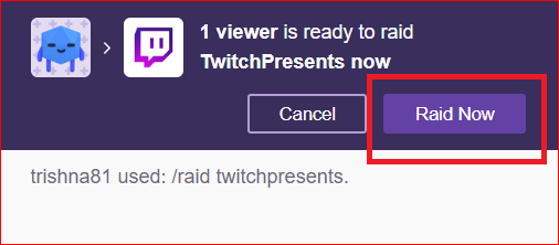How to raid on twitch