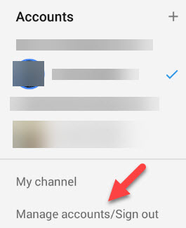 log off youtube app