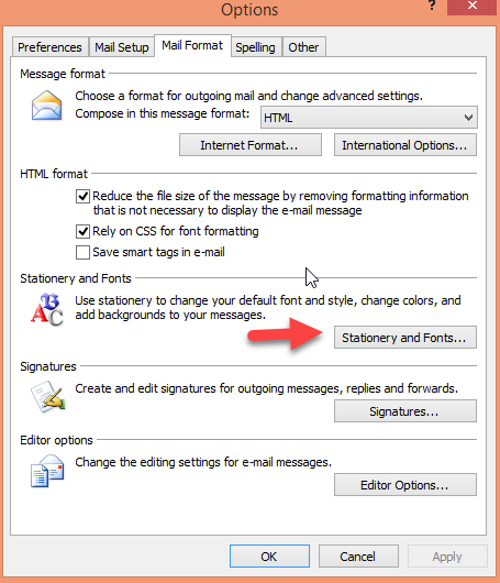 How to Change the Default Look and Size of Fonts in Outlook