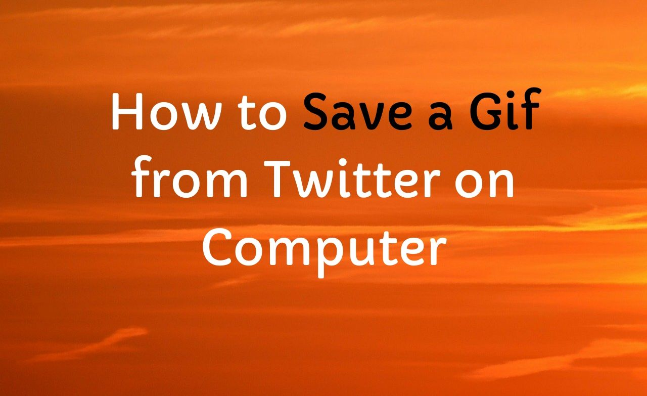How to Save a Gif from Twitter on Computer