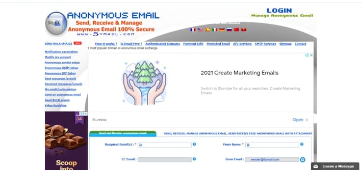 10 Websites to Send Anonymous Emails